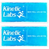 Large Reusable Gel Ice Packs for Injuries by Kinetic Labs (2 Pack) – Hot & Cold Pack for Pain Relief – Best Gel Ice Pack…