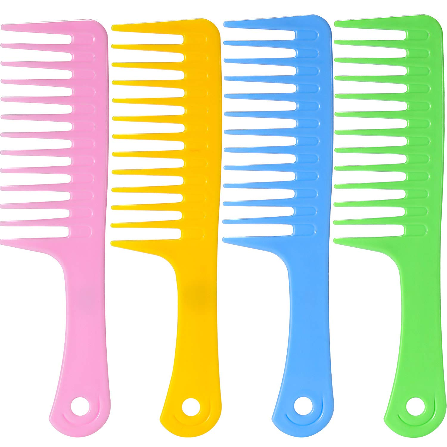 4 Pieces 9 1/2 Inches Anti-static Large Tooth Detangle Comb, Wide Tooth Hair Comb Salon Shampoo Comb for Thick Hair Long Hair and Curly Hair TecUnite TecUnite-Hair Comb-01