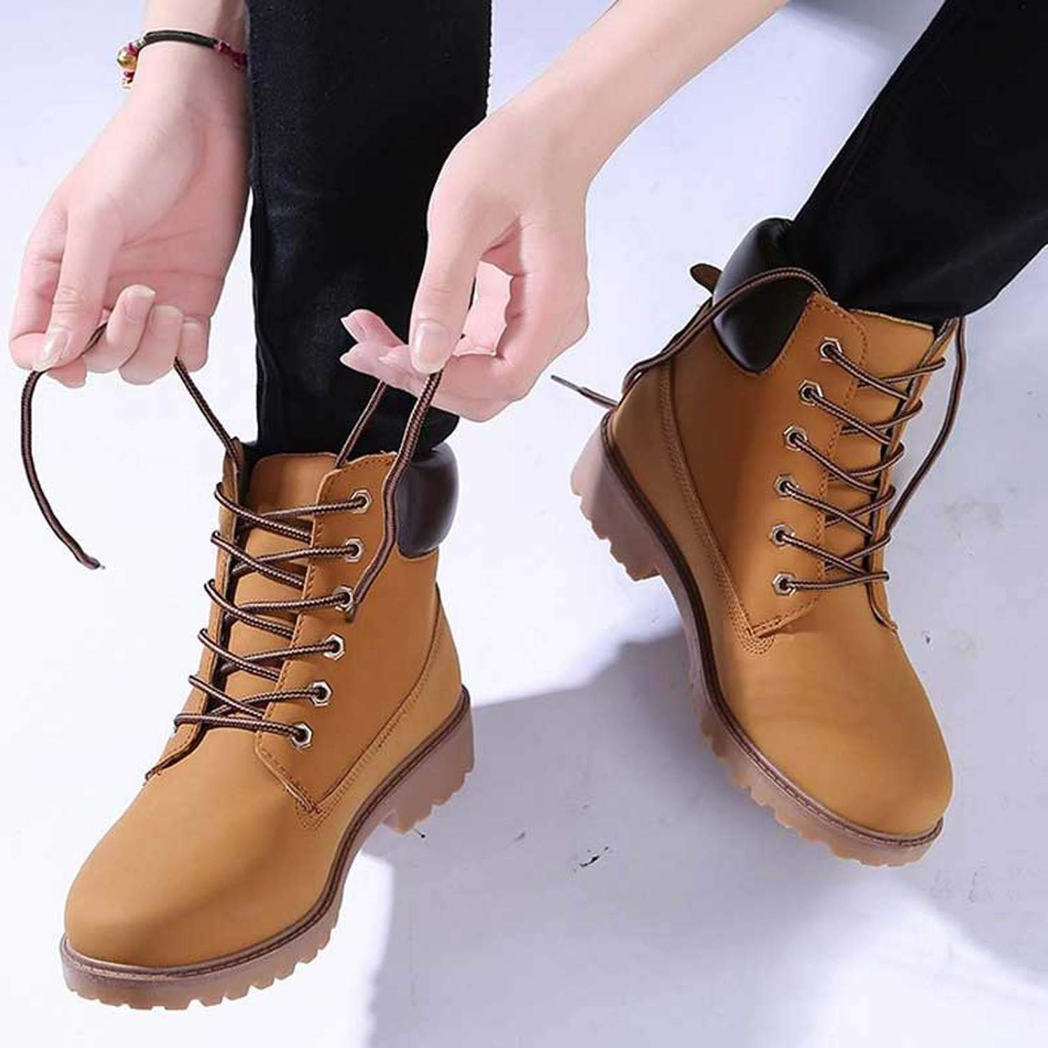 Amazon.com | Designer Winter Ankle Snow Boots Female Warm Fur Martin Boots Lace Up Bota Feminina Botas | Boots