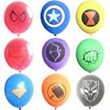 Hizoop Palloncini in Lattice Supereroi 45 Pezzi, Forniture per Feste di Compleanno per Bambini, Decorazioni per Palloncini Supereroi Avengers (9 Palloncini Colorati)