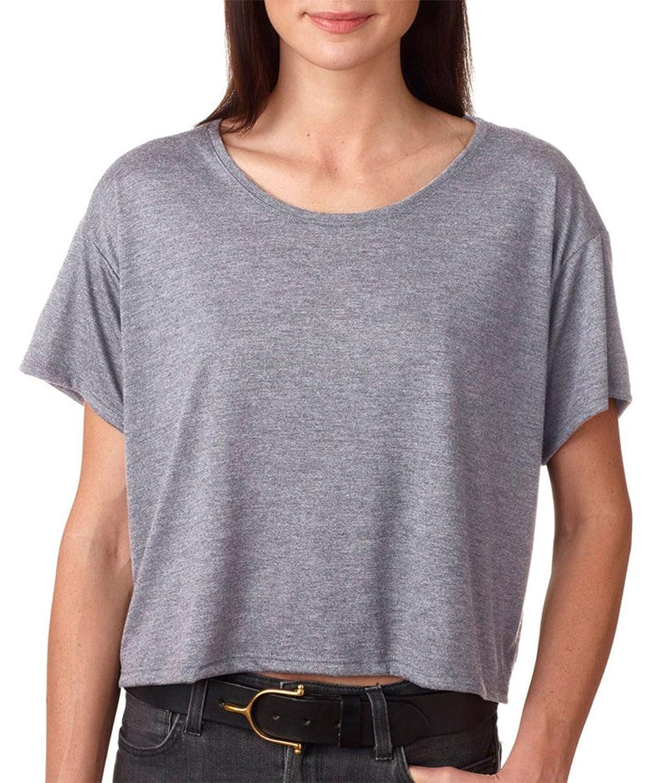 Bella + Canvas Womens Flowy Boxy T-Shirt (B8881) ATHLETIC HEATHER