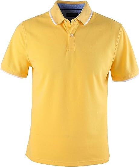 0108Voray Ga Polo básico Hombre algodón Granito Tips Cuello y ...