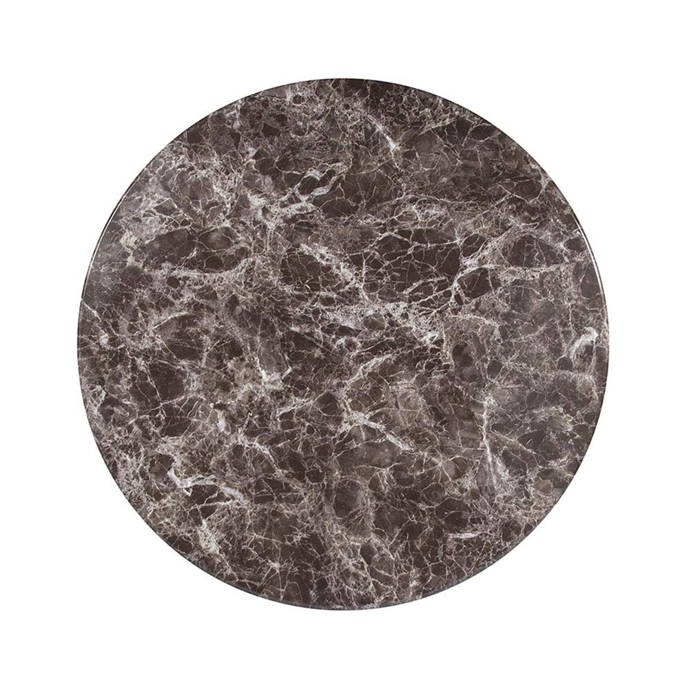 Offex 30'' Round Gray Marble Laminate Dining Table Top by Offex (Image #1)
