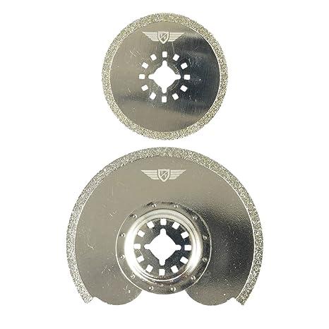 2 x topstools stkd2 diamante lechada cuchillas para Bosch, Fein Multimaster, colores, Makita