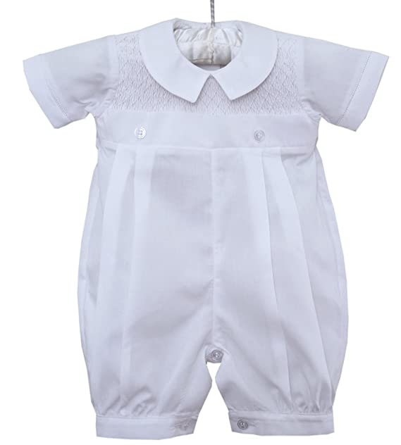 Amazon.com: Baby Boy Smocked bautizo Dedicación Outfit ...