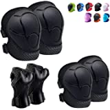 Knee Pads for Kids Kneepads and Elbow Pads Toddler Protective Gear Set Kids Elbow Pads and Knee Pads for Girls Boys with Wris