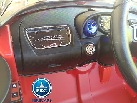 PEKECARS Coche ELÉCTRICO 12V Bugatti Veyron Style Rojo: Amazon.es: Juguetes y juegos