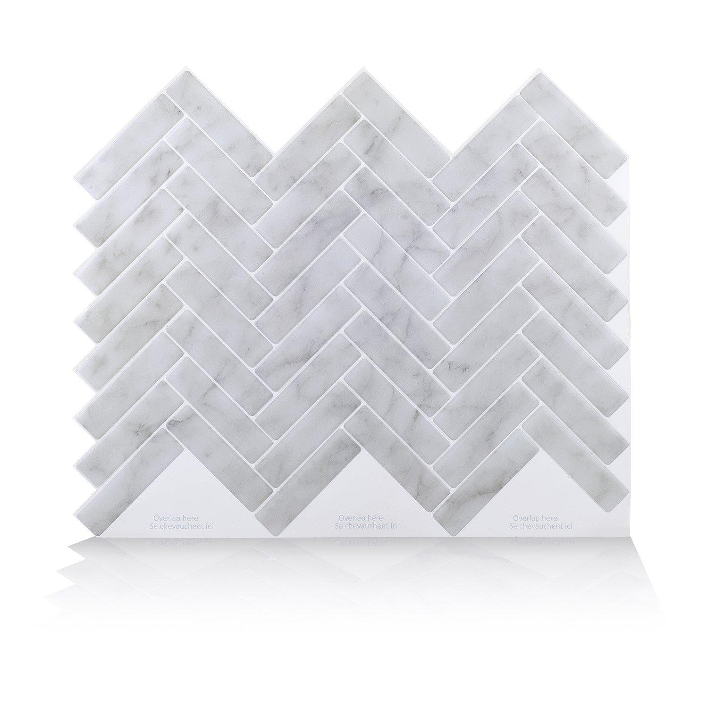 Vamos Tile Premium Anti Mold Peel and Stick Tile Backsplash, Self Adhesive Wall Tiles for Kitchen & Bathroom-11 x 9.2 (6 Sheets)