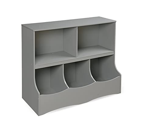 badger basket multi bin storage cubby gray - Baskets For Bookshelves