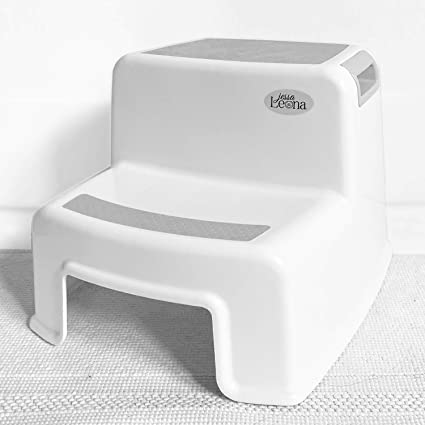 Double Step Stool 2 Steps for Kids Children Perfect for Toilet Training /& Kitchen Blue