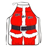 Christmas Novelty Cooking Kitchen Apron Costumes Party Prop Christmas Santa Decoration for Home Cooking Coffee Shop Restaurant BBQ Santa Claus Style