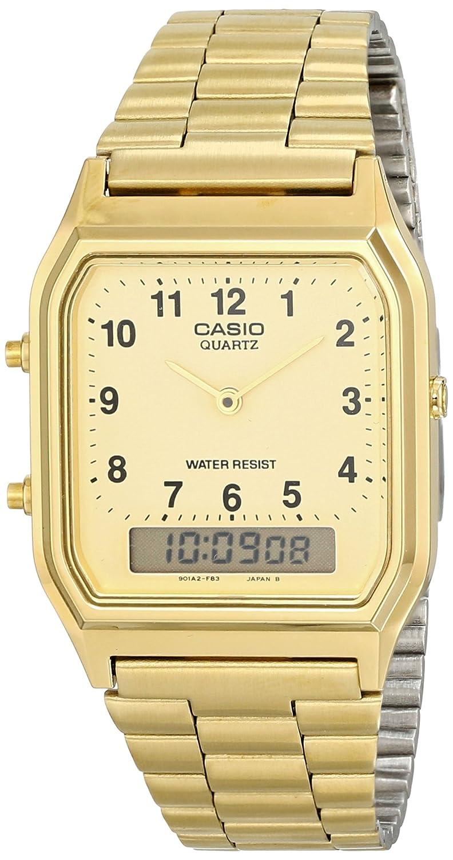 3223645660e Relógio Feminino Anadigi Casio Vintage AQ-230GA-9BMQ - Dourado   Amazon.com.br  Amazon Moda