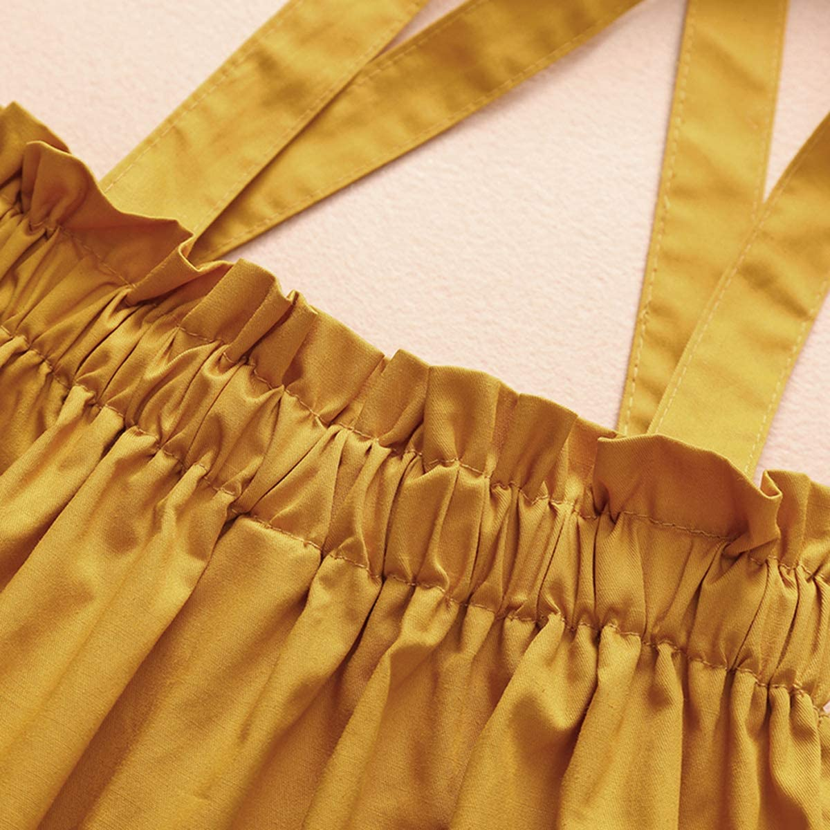 3 pezzi Vestiti per bambina con balze e bretelle a maniche lunghe DaMohony