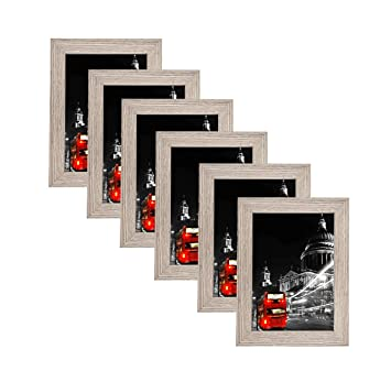Amazoncom Mdf Wood Picture Frames 5x7 Display With Pvc Lens