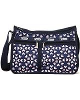 LeSportsac Deluxe Everyday Handbag (Heart Burst Navy)