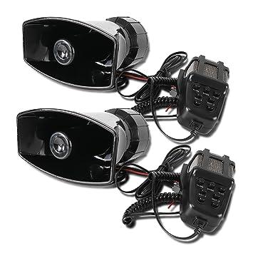 2 unidades 12 V 7 Tono grabación de sonido altavoz sirena ...