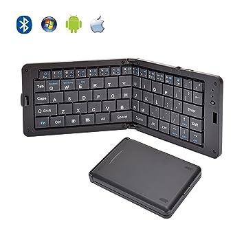 Teclado inalámbrico Bluetooth, Mac Android Teclado plegable ultrafino portátil, iPad de Apple Teclado portátil