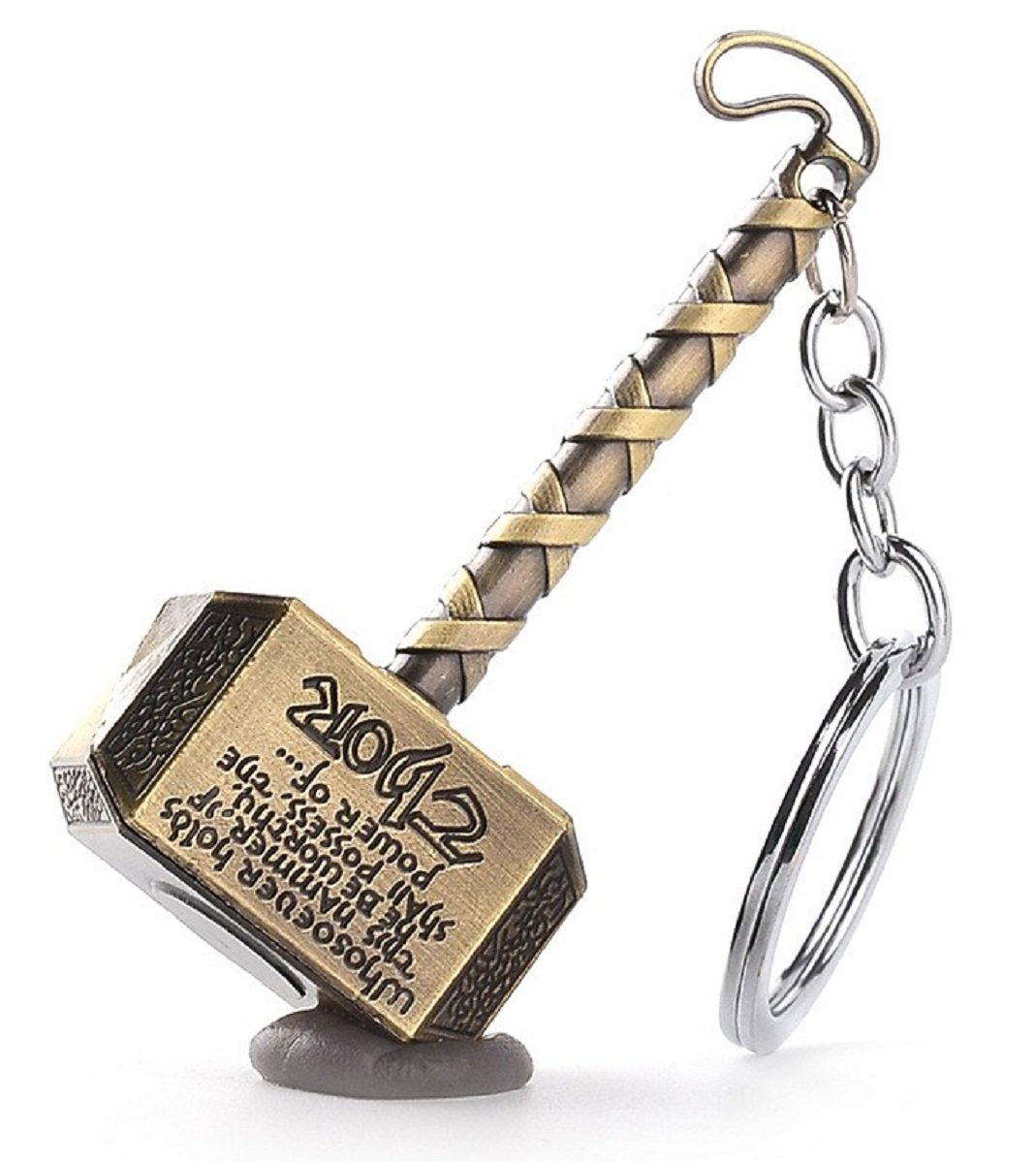 Llavero de latón con diseño de Martillo de Thor. Whosoever ...