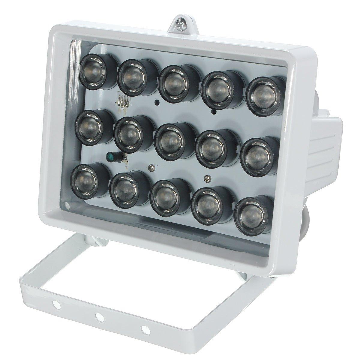RISHIL WORLD 328ft 15LED 12V Night Vision Lamp IR Illuminator Infrared Light for Security Camera