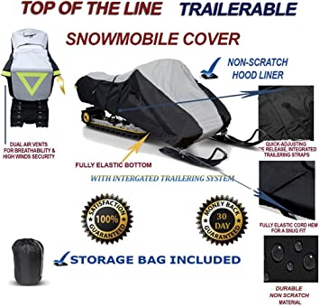 Trailerable Snowmobile Snow Machine Sled Cover fits Yamaha VX 540 2000 2001