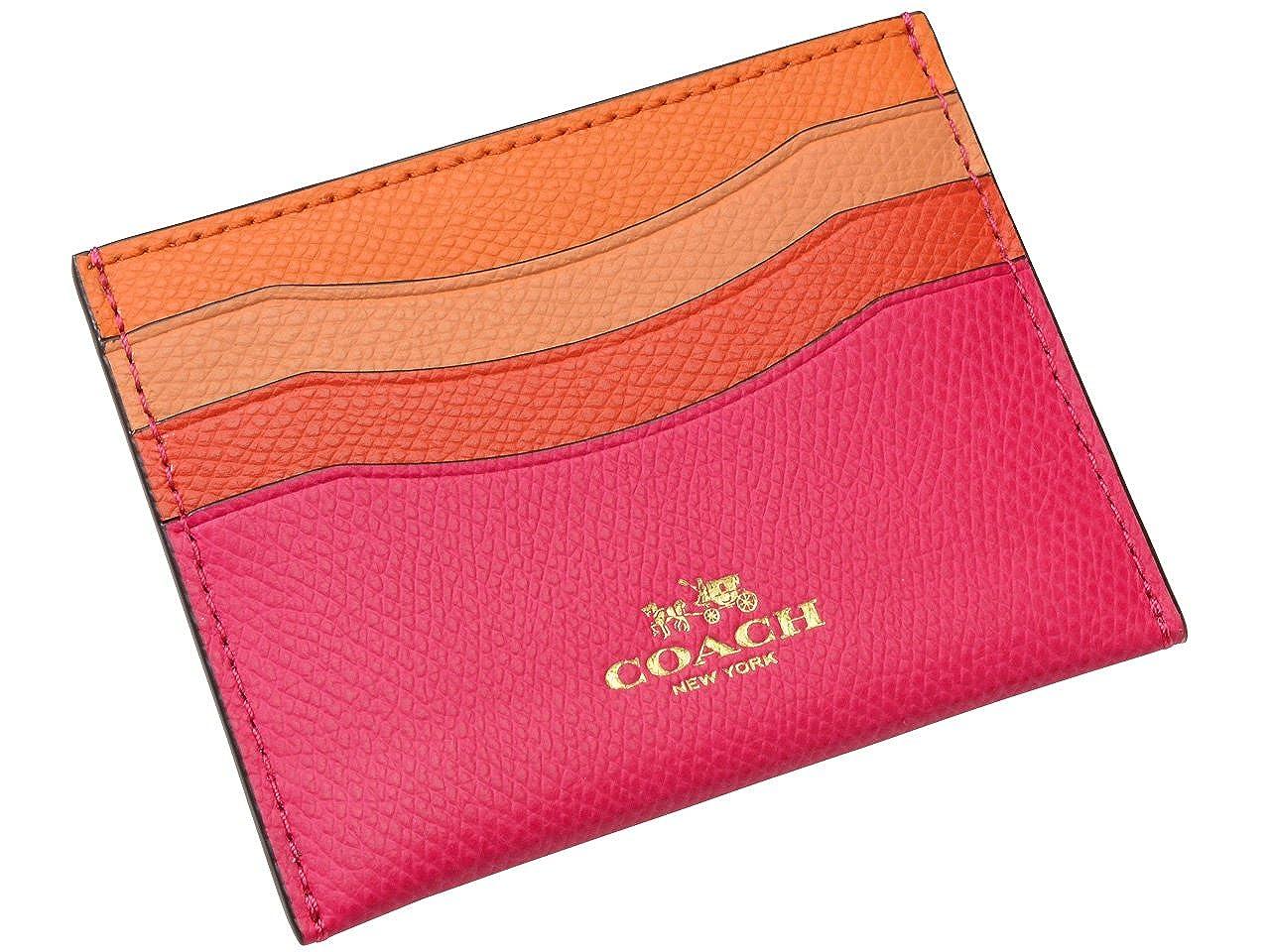 (コーチ) COACH パスケース 定期入れ カードケース レッドパープルマルチ レザー f65527imfui アウトレット ブランド [並行輸入品]   B01KLM3QE8