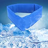 Triumilynn Cooling Dog Collar, Dog Cooling Collar with Adjustable Neck Size, Summer Chill Out Pet Cooling Collar, S 10.5 in/M 12.45 in/L 23.5 in, Blue