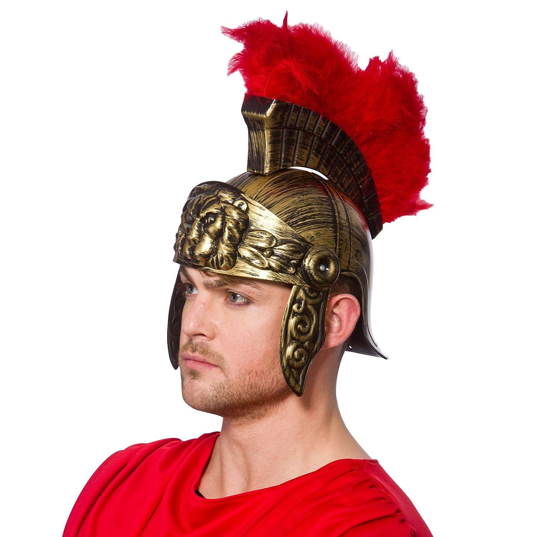 roman feather helmet hat fancy dress accessory gladiator