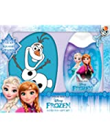 Disney La Reine des neiges Fille gift set 300ml shower gel and sponge - bleu