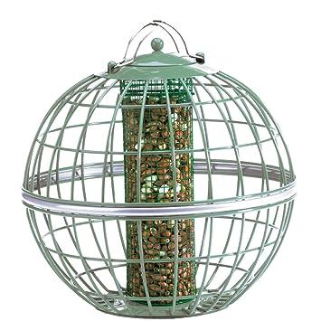 The Nuttery Globe - Comedero dispensador de frutos secos: Amazon.es: Jardín