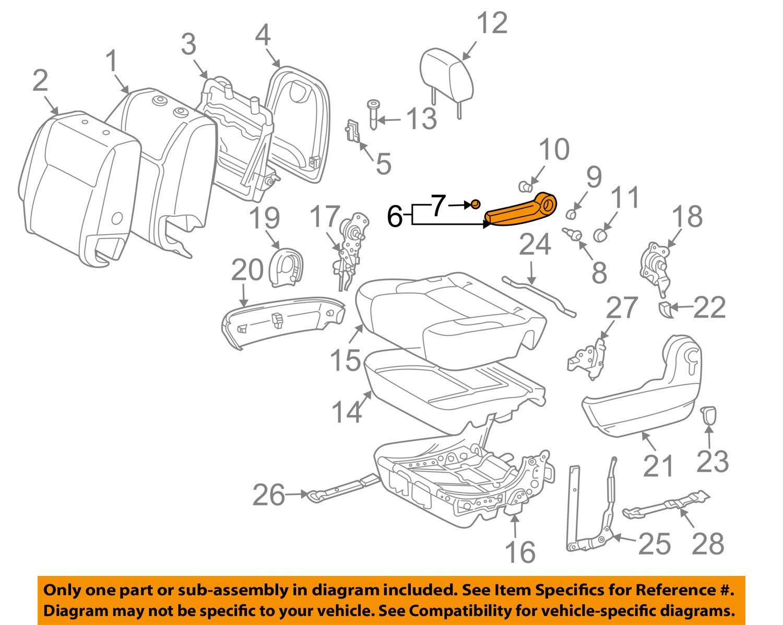 Toyota 72810-08061-B0 Seat Armrest Assembly