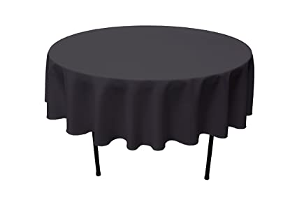 Superieur GEFEII Kitchen Black Tablecloth 70 Inch Round Tablecloths Solid Polyester Table  Cloth For Wedding Party Restaurant