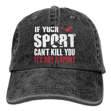 Wdskbg Gorra de béisbol Unisex Paracaidismo si tu Deporte no Puede ...