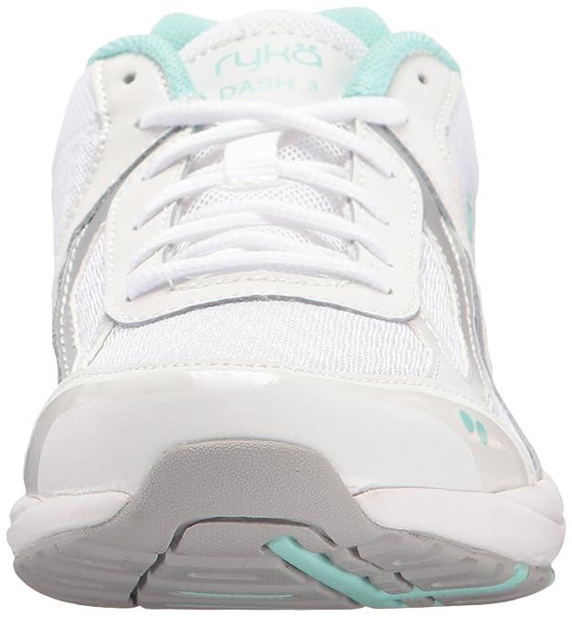 Zapato para caminar Dash 3 de mujer, blanco / plateado / menta, 5.5 M US