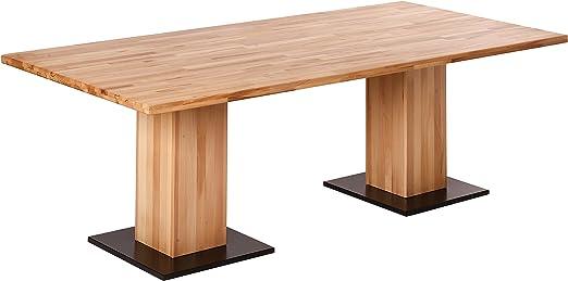 Krok Wood Esstisch Stockholm Aus Massivholz In Buche 220x100x75 Cm Amazon De Kuche Haushalt