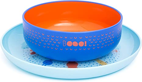 Suavinex - Set Vajilla Bebé Bowl + Plato Infantil BOOO. Apto Para ...
