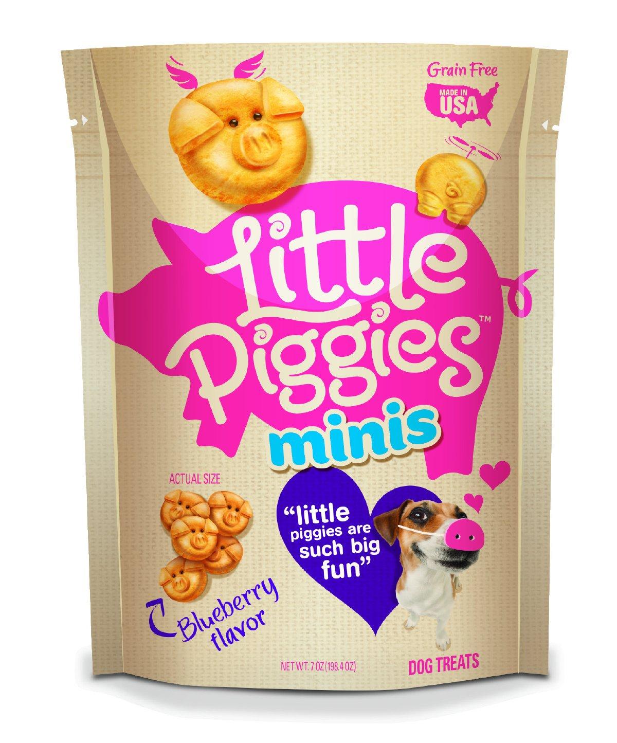 Little Piggies Minis Dog Treats blueeberry Flavor, 7 Oz
