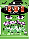 Brach's Witches Teeth Candy Corn, Green Apple, 4.2 Ounce (Pack of 12)