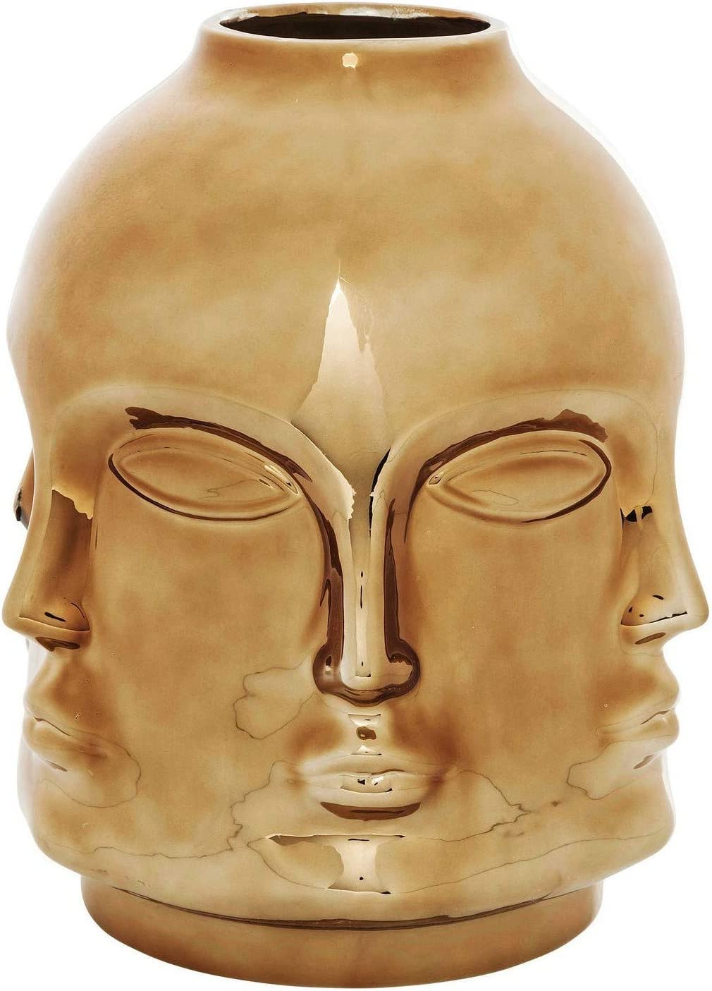 Kare Vase Rose Gold Faces Design Amazon Co Uk Kitchen Home