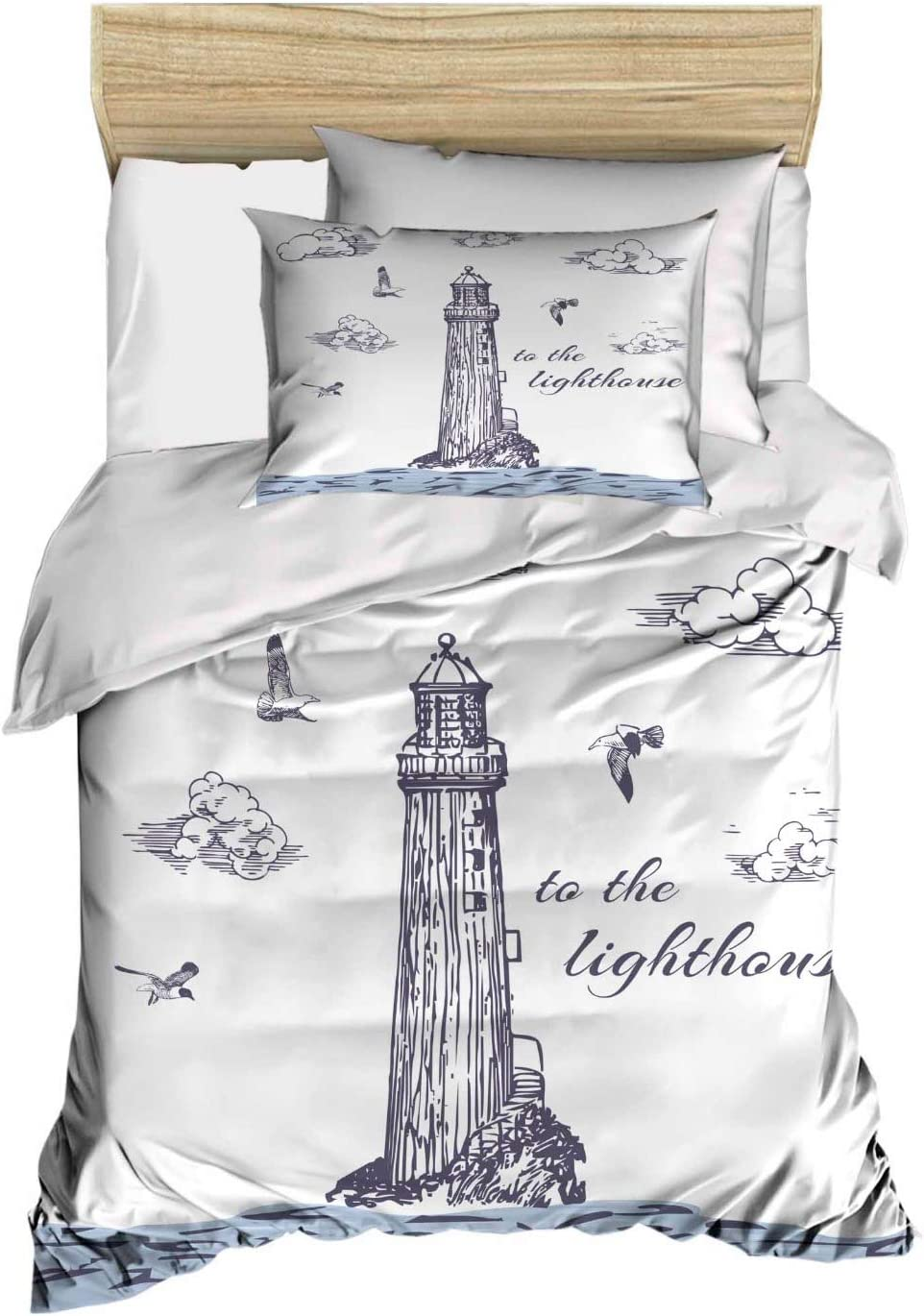 Lighthouse Home 3D Printing Duvet Quilt Doona Covers Pillow Case Bedding Sets