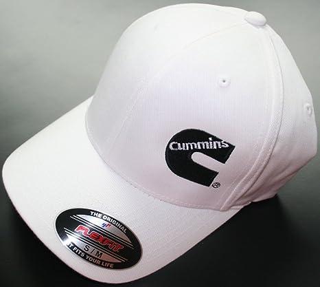 Image Unavailable. Image not available for. Color  Cummins Fitted Flexfit  Flex Fit White Hat Cap Dodge Truck Large xl 3f5d00779311