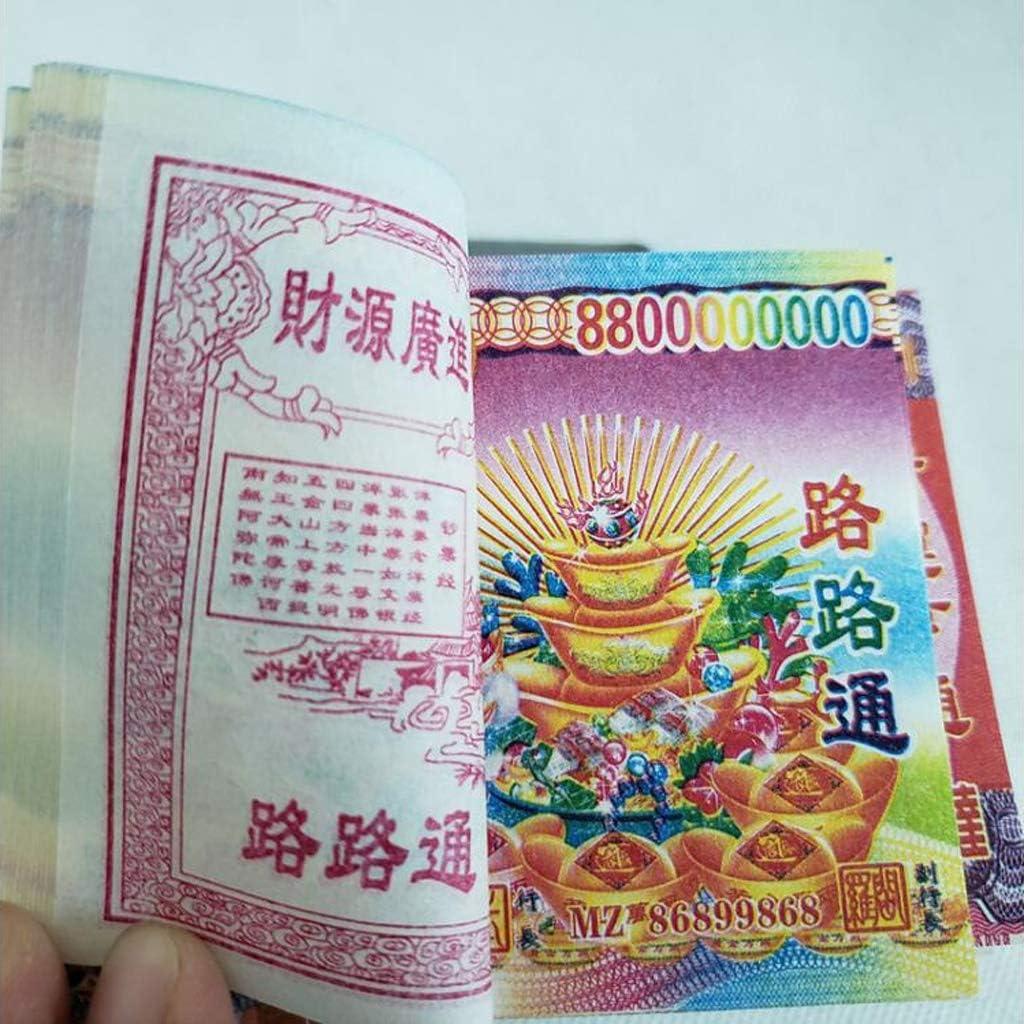 3000 Blatt Chinese Joss Paper Money H/ölle Bank Notes for Begr/äbnisse Dead Man Paper Money Opfer Vorfahr Paradise Banknoten