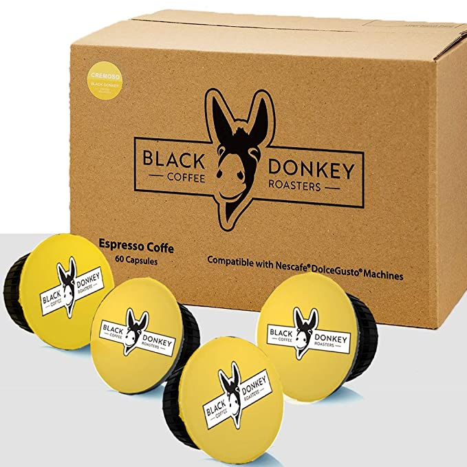 Black Donkey Coffee Roasters - 60 Dolce Gusto Cápsulas Compatibles ...