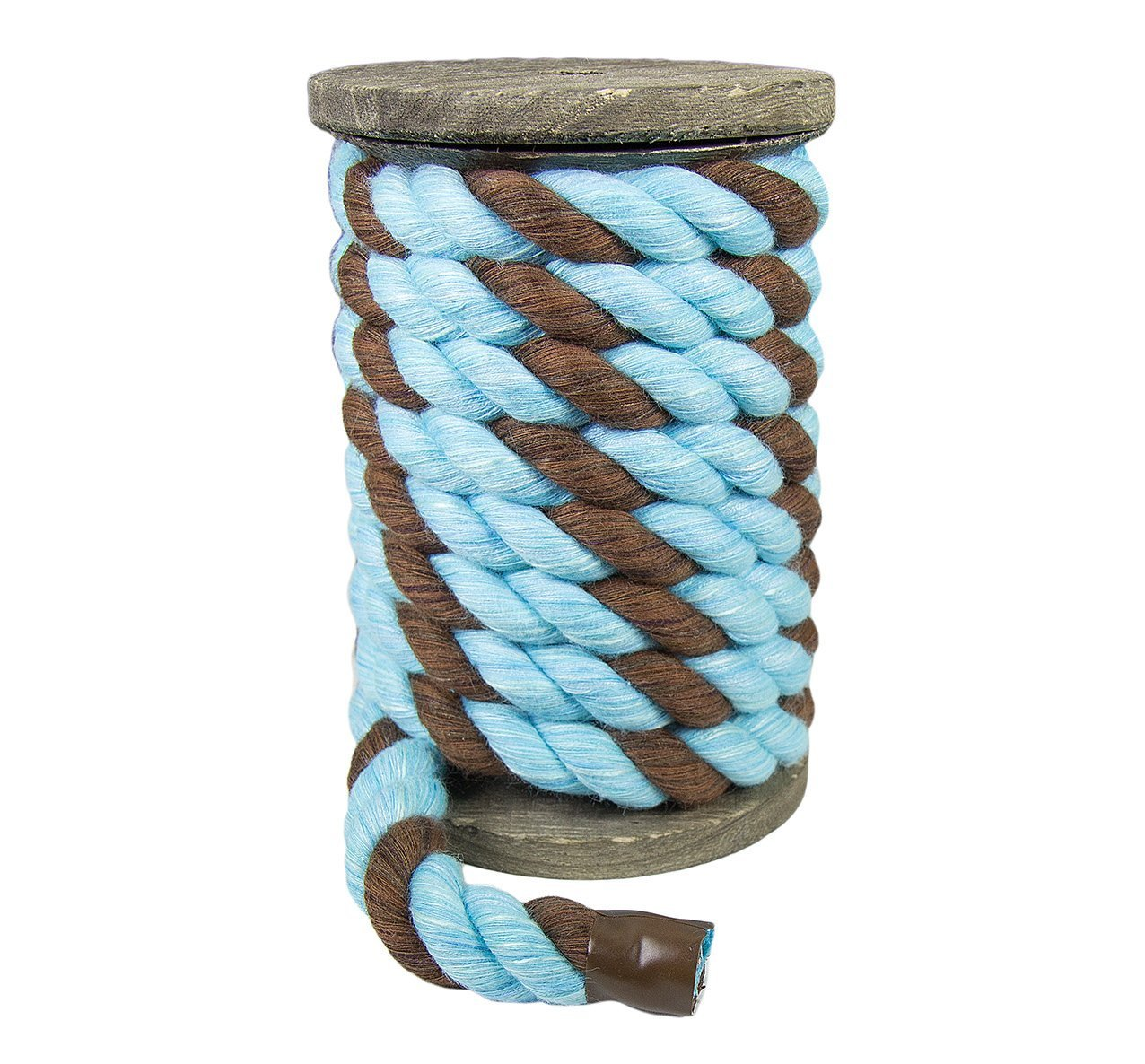 Macram/é and Indoor Outdoor Use Ravenox Colorful Twisted Cotton Rope Made in The USA Crafts Pet Toys D/écor by The Foot and Diameter Custom Color Triple-Strand Rope and Cordage for Sport