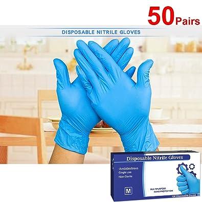 100 Paar XL blau puderfrei Einwegnitrilhandschuhe Gr