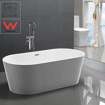 freestanding tub. KIVA RHYME 59 quot  Freestanding Bathtub 100 Pure Acrylic Soaking Bath Tub for Bathroom