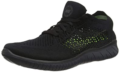 2eed0b70ed24 Nike Free Rn Flyknit 2018 Mens 942838-002 Size 6 Black Anthracite