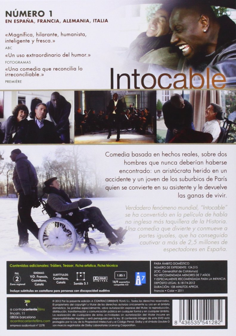 Intocable [DVD]: Amazon.es: Françoise Cluzet, Omar Sy ...