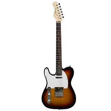 Rocket Music EGT44LHSB - Guitarra eléctrica (puente fijo, tipo sunburst): Amazon.es: Instrumentos musicales