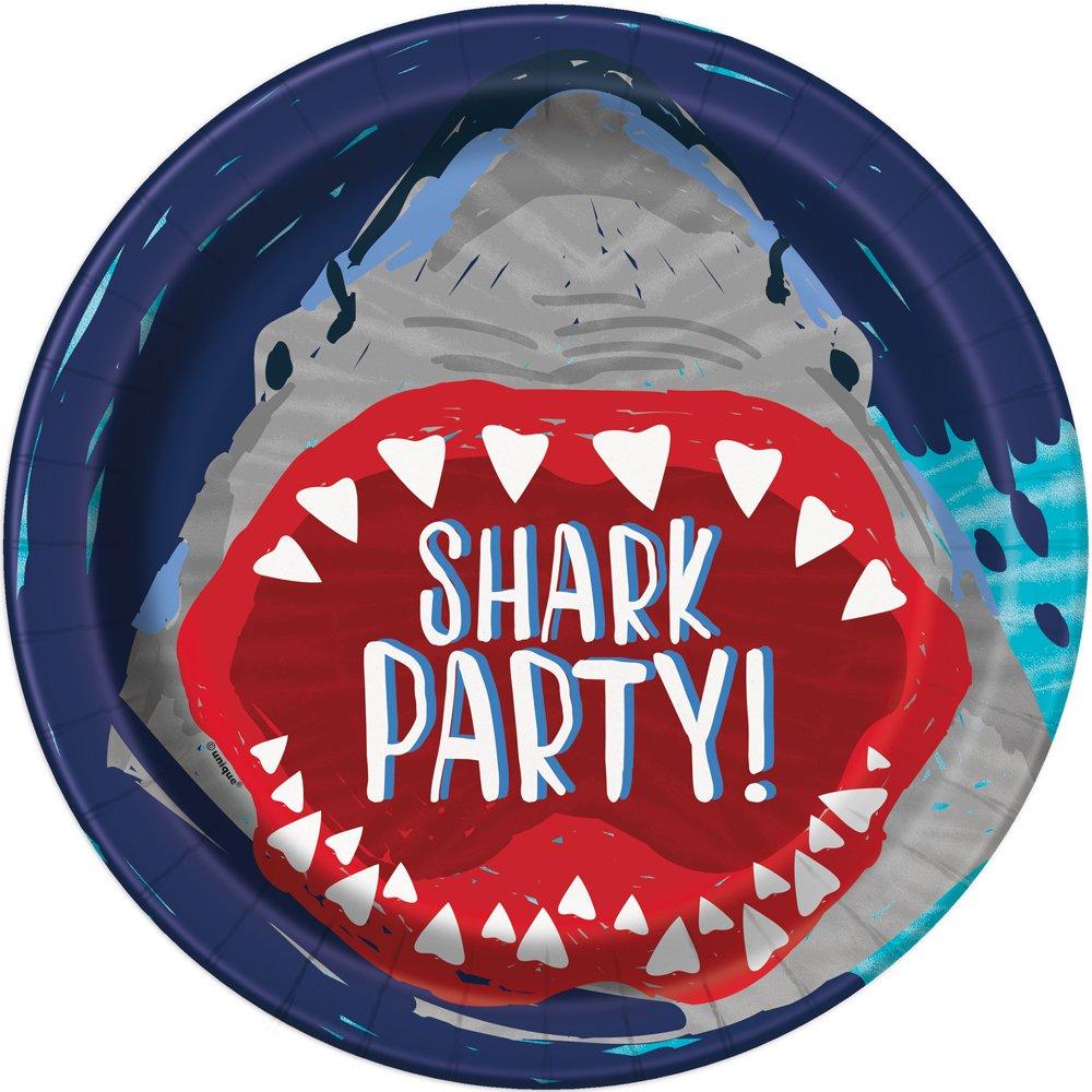 SUnique Industries hark Paper Party Plates, 8ct