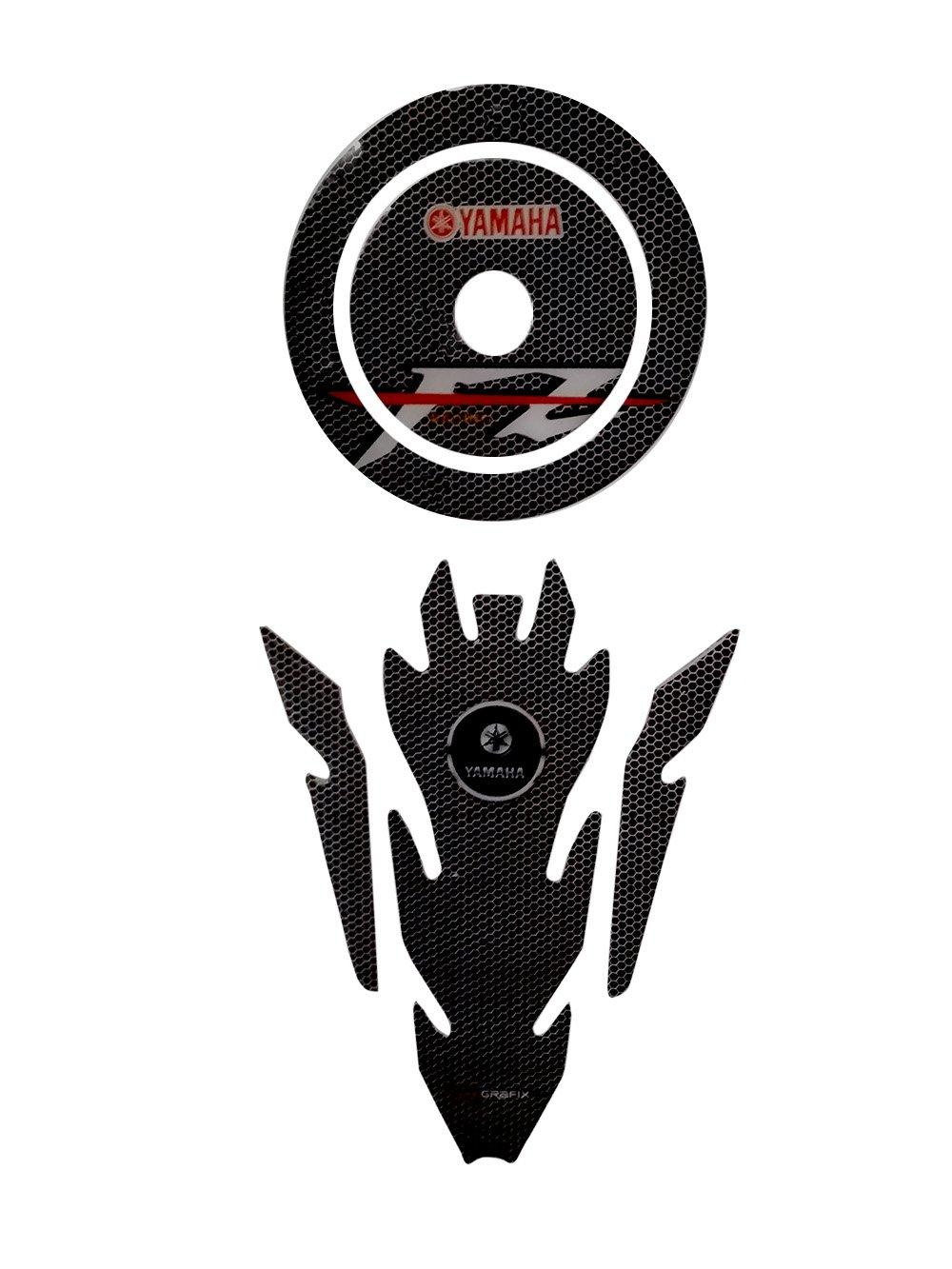 Combo fz s yamaha customize vinyl tank pad fuel cap sticker amazon in car motorbike